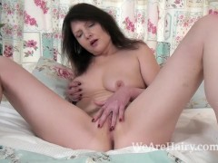 Kristine Von Saar strips naked and plays in bed