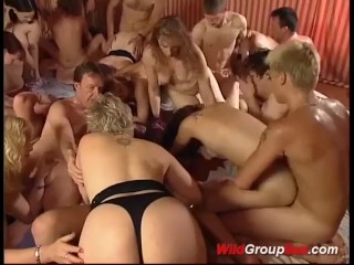 wild german groupsex orgy