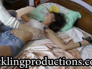 Tickling Julia part 3 - * Tickling Her Feet *