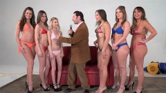 Girling - Abella D, Charlotte C and Harley J in lesbian oil toy action