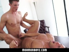 MormonBoyz- Muscle boy cums while being fucked bareback