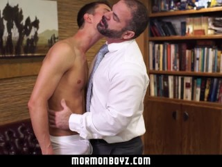 MormonBoyz- Missionary stud tops a daddy priest