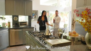 PUREMATURE Busty MILF real estate agent Romi Rain fucked by big dick