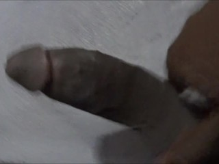 Straight black guy cums for the first time!