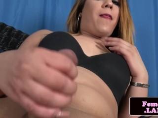 Amateur lingerie tgirl masturbating solo