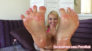 Cutie Aaliyah Love Get Feet Fucked in Hot Foot Fetish Video!