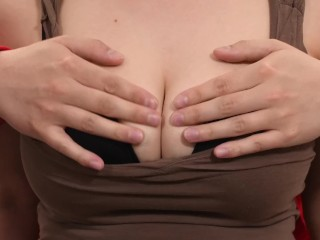 First Time Fondling All Natural 32DDD Tits On Camera