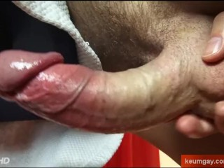 Gregoiry's huge cock massage ! (straight guy for a gay guy)