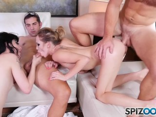Spizoo - Charlotte Sartre take two cocks in her tiny ass