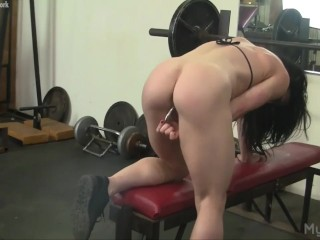 Big Clit Gym Masturbation and Insertion