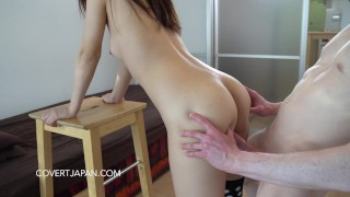 Shizuku's First Interracial Sex with White Guy - Covert Japan japan young asian white man wmaf shaved tight cute covert japan wmaf japanese covertjapancom japanese white interracial pov white guy