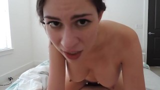 pov point of view tabou creampie mom and step son cowgirl big tits big boobs brunette close up couple shaved milf