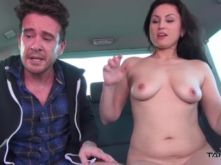Takevan Nasty stupid gipsy babe easy jump in the van & ride strangers cock