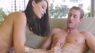 PASSION-HD Beautiful eyed Lana Rhoades fucks her much older boyfriend