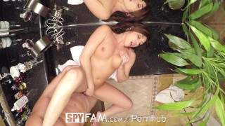 SpyFam Step mom Christiana Cinn fucks big dick step son  spyfam hd blowjob cumshot big dick hardcore brunette 60fps sex stepmom spy stepson step mom christiana cinn steps son step siblings caught