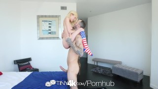 Tiny4k Tiny Piper Perri sucks and fucks tasty big dick on memorial day  hardcore sex piper perri blonde blowjob cumshot small tits 4k tiny4k skinny big dick hd 60fps petite