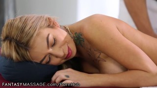FantasyMassage She Can't Stop Squirting  big tits older younger pussy rubbing hairy reverse cowgirl squirt asian blowjob cumshot massage squirting fingering orgasm tattoos big boobs female ejaculation fantasymassage