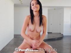 PORNPROS Naked massage hottie Megan Blue takes super soaker facial
