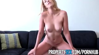 PropertySex - Landlord gets fucked by criminal tenant  doggy style point of view landlord funny blonde cumshot pov propertysex missionary tenant hardcore eviction cowgirl swallow orgasm bubble butt
