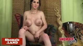 Busty cuban tgirl in lingerie strips n teases