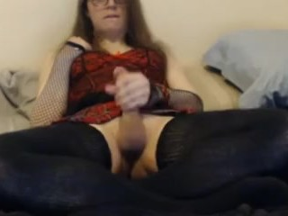 Slutty Femboy Edges Big Cock