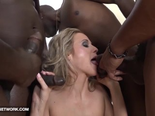 Face Fucked Deepthroat Cum Licking Swallow Blonde Interracial Hard Anal