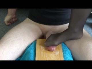3 cum nylon footjob