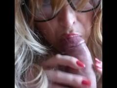 Glasses blowjob / Mamada con gafas