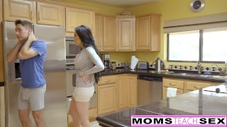 MomsTeachSex - First Time Threesome Is With Step Mom!  step daughter big tits big cock threeway blonde first time cumshot milf young sierra nicole shaved doggystyle eating pussy momsteachsex fake tits hot mom jaclyn taylor