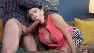 Image Big titty MILF sucks off shady landlord to cover rent