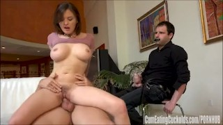 Krissy Lynn fucks hard in front of her husband. cock sucking wife share femdom hardcore bigtits cowgirl brunette riding fucking cumeatingcuckolds bigboobs doggystyle
