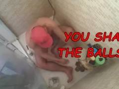 SHAVING MY BALLS AND WANKING MY DICK IN HOME - DO YOU DARE?