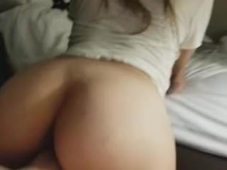 Beautiful College Teen Ass Riding Hard Dick