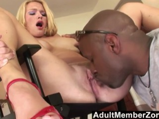 amz - her first big black cock does not disappoint.