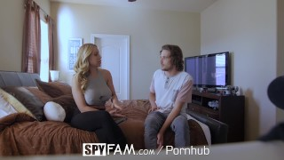 SpyFam Stepson fucks busty stepmom Olivia Austin for first time