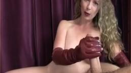 handjob Leather Gloves Joi mistress T