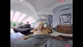 VR PORN- KATY ROSE LADY IN RED – BLONDE GIRL IN STOCKINGS VR HD