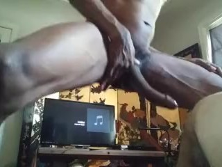 Hey! wha are you doing to my huge cock of straight guy? don't wank me !