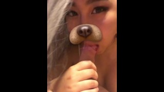 Private Snapchat Teaser  big ass thick asian teen tease sexy asian amateur blowjob pov snapchat filters compilation snapcentro snapchat