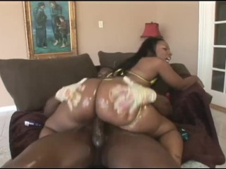 Black Teen CHEROKEE D'ASS Gets Her Big Ass Fucked By Monster Black Cock