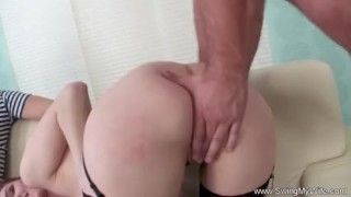 Redhead Wife Fucks Stranger For Husband  wives swingers hubby redhead old wife mom husband amateur swingmywife screwmywifeclub threesomes milf rough mother anal