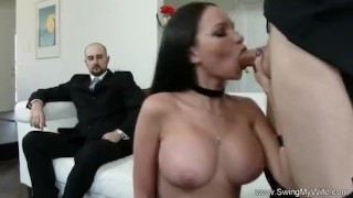 Exotic Swinger Wife Fucks Another Man  whooty wives swingers hubby wife mom husband amateur sharing swingmywife threesomes tattoo milf pawg rough mother anal fake tits
