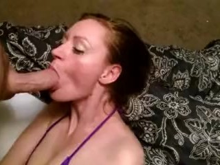 Amateur First Facial and Partial POV