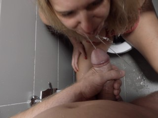 Dirty messy amateur piss deepthroat with helpless drunk blond girl.