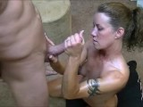 Hotwife gives 2 handjobs to husband while telling him about her gangbangs