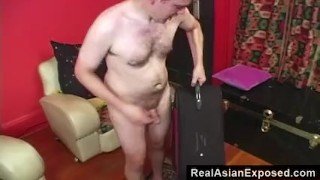 RealAsianExposed - Petite Asian in a suitcase.  doggy style point of view babe amateur blowjob small tits handjob closeup petite fingering shaved realasianexposed small boobs