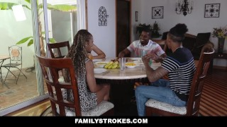 FamilyStrokes- Family Reunion Turned into Fuck Fest  misty stone family taboo milf seduces boy tease black blowjob foursome small tits skinny orgy milf taboo feet group doggystyle small boobs familystrokes