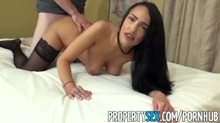 PropertySex - Hot brunette agent fucks rich home buyer