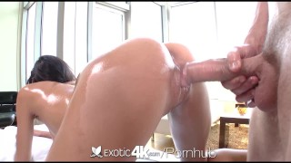 Exotic4k Brunette Chloe Amour massage fuck and cum explosion