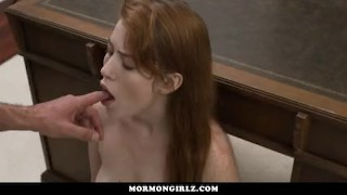 MormonGirlz-- Virgin redhead masturbates, under his eye